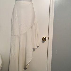 Intermix asymmetrical white skirt/ NWOT